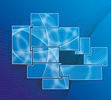 Glass framework set. Website template design.