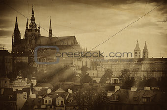 Old Photo Of Prague