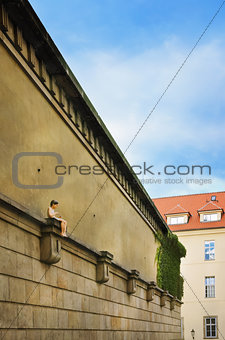 Klementinum Wall