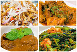 Nyonya Peranakan Food Collage