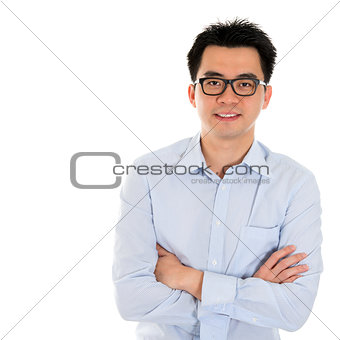 Asian business man isolated
