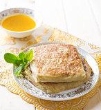 Middle east stuffed bread Mutabbaq