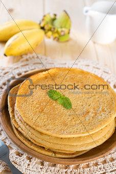 Asian style Banana pancakes