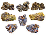 set of pyrite and chalcopyrite minerals