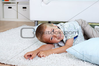 Boy on the floor