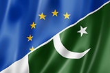 Europe and Pakistan flag