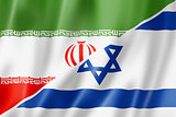 Iran and Israel flag