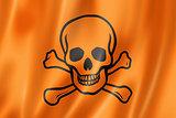toxic poison skull flag