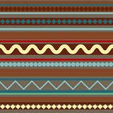 Seamless geometric pattern in ethnic style