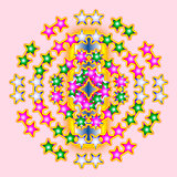 Abstract  graphic composition.Kaleidoscopic illustration.