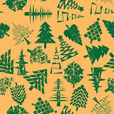abstract christmas trees pattern