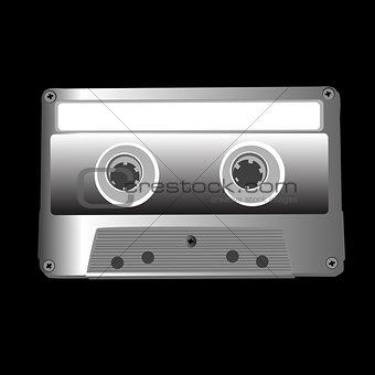 cassette on black