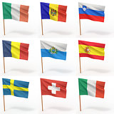 Collection of european flags