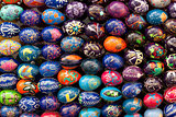 Colorful Easter eggs. Abstract easter colorful background.