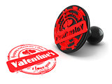 Stamp happy valentine's day