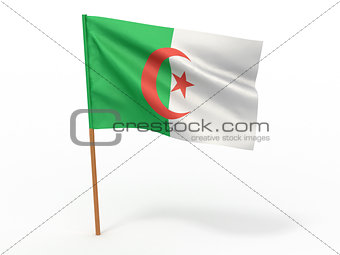 flag fluttering in the wind. Algeria