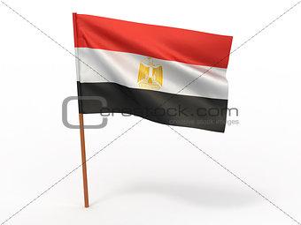 flag fluttering in the wind. Egypt