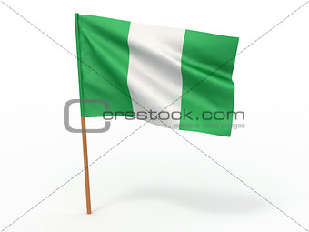 flag fluttering in the wind. Nigeria