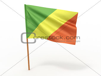 flag fluttering in the wind. Congo
