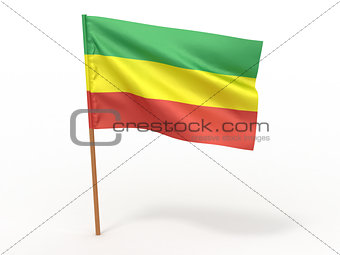 flag fluttering in the wind. Ethiopia