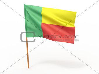 flag fluttering in the wind. Benin