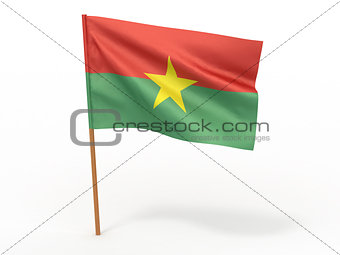 flag fluttering in the wind. Burkina Faso