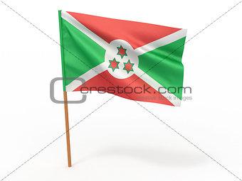 flag fluttering in the wind. Burundi