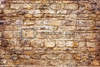 Close-up a brick wall.