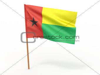 flag fluttering in the wind. Guinea Bissau