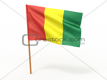 flag fluttering in the wind. Guinea