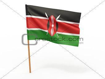 flag fluttering in the wind. Kenia