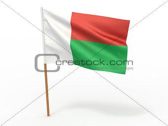 flag fluttering in the wind. Madagascar
