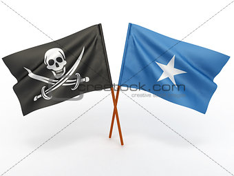 Flag of Somali and Holly Roger