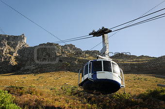 Cable car to a high mountain