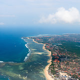 Aerial view on Bali