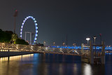 Singapore flyer at night