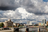 Moscow River and White House in Moscow, Russia