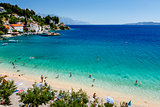 Beautiful Adriatic Beach and Lagoon with Turquoise Water near Sp