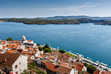 Panoramic View on Saint James Cathedral and City of Sibenik, Cro