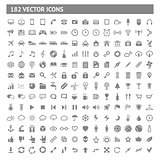 182 icons and pictograms set. EPS10 vector illustration.