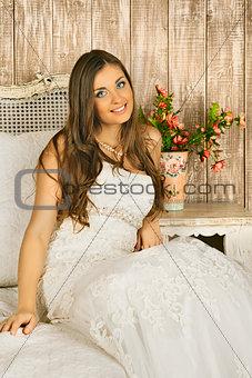 Bride on a Bed