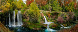 beautiful view with the waterfalls of duden in Turkey