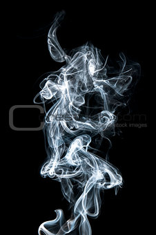 abstract white smoke on black background