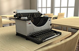 Typewriter on a desk