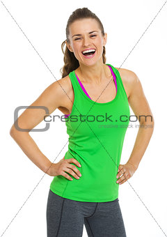 Portrait of happy healthy young woman