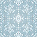 Seamless background with stylized Christmas snowflakes.