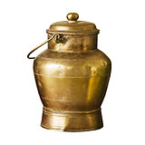 Ancient bronze can with handle