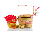 Traditional Chinese Designed Bamboo Basket and new year items