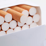 Closeup of cigarettes