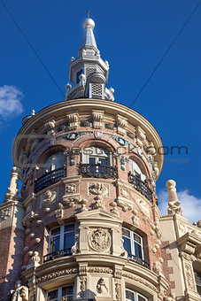 Madrid, Spain / beautiful historical building, Old architecture
